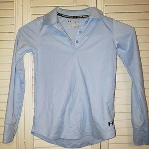 Under Armour blue boys shirt size medium